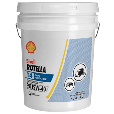 Shell Rotella T Triple Protection 5 Gallon Heavy Duty Engine Oil 15W40 550045128