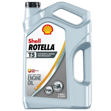 Shell Rotella T5 Synthetic Blend 15W-40 Diesel Engine Oil 1 Gallon 550045358