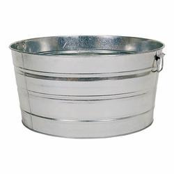 Behrens Round Galvanized Steel Tub 15 Gal