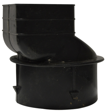 Timewell Tile 4 inch Small Down Spout Adaptor
