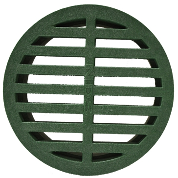 Timewell Tile 4in Round Grate - Green