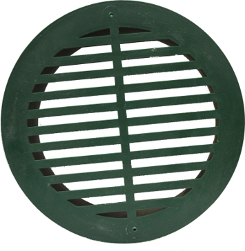 Timewell Tile 6in Round Grate - Black
