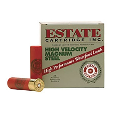 "Estate High Velocity Magnum Steel Loads 12ga 3"" 4 Shot"