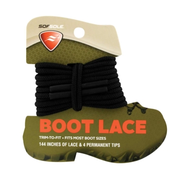 """Sof Sole 144"""" Trim to Fit Black Boot Lace"""
