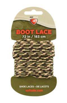 "Sof Sole 72"" Waxed Tan Camo Boot Laces"