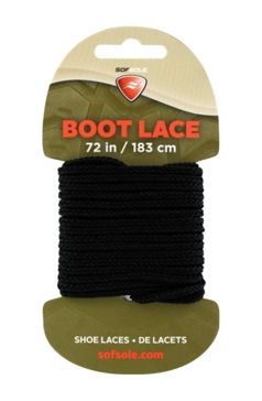 """Sof Sole Military Black 72"""" Waxed Boot Laces"""