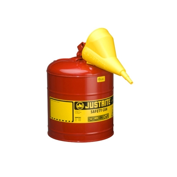 Justrite Type 1 Safety Metal 5 Gallon Gas Can