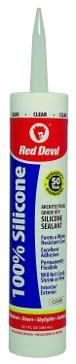 Red Devil Silicone Sealant 100% Clear 10.1oz