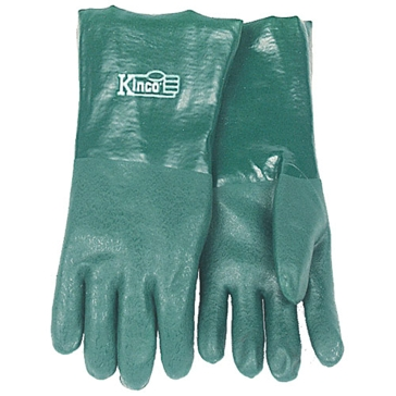 Kinco 14in Sandy PVC Coated Green Gloves