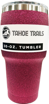 Tahoe Trails Tumbler - 30 Oz. - Pink Sparkle