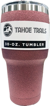 Tahoe Trails Tumbler - 30 Oz. - Light Pink Sparkle