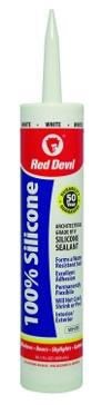 Red Devil Silicone Sealant 100% White 10.1oz
