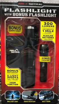 Pro-4 Tactical Flashlight with Bonus Mini Flashlight