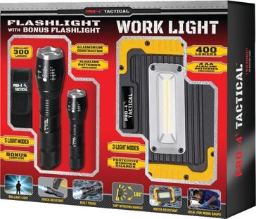 Pro 4 Tactical Bonus Pack - Portable Work Light