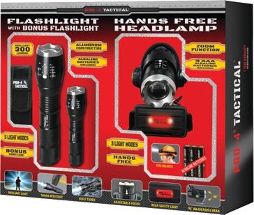 Pro - 4 Tactical Bonus Pack - Headlamp
