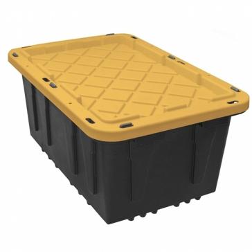 Tough Tote - 27 Gallon - Yellow Lid