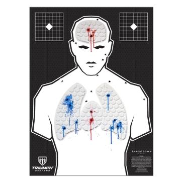 Threat Down Humanoid Reactive Target