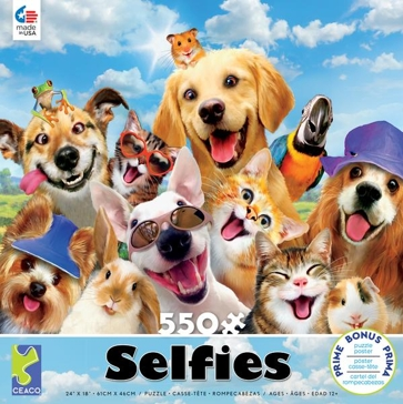 Ceaco Selfies 550 Piece Puzzle - Assorted