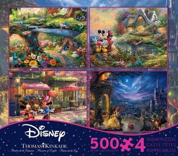 Ceaco Disney 4 in 1 500 piece puzzle  - Assorted