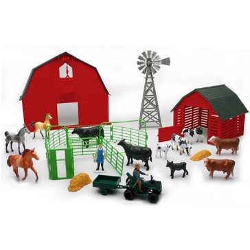 New Ray Farm Playset with Barn
