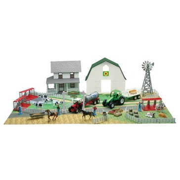 New Ray Deluxe Farm Playset with Mat