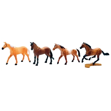 New Ray Toys USA 4pc. Horse Set