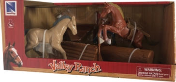 New Ray Toys USA Vally Ranch Horse Riding Playset Assorted