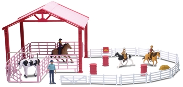 New Ray Toys USA Barrel Racing Corral Playset
