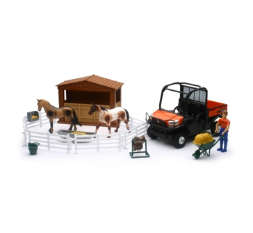 New Ray Toys USA Kubota RTV W/ Horses 1:18