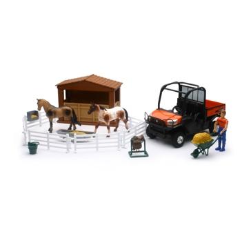 New Ray Toys USA Kubota RTV W/ Horses 1:18