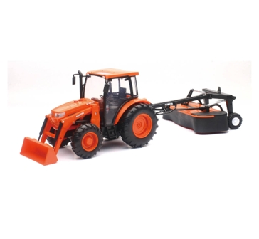 New Ray Toys USA Kubota Tractor W/ Disc Mower