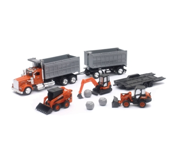 New Ray Toys USA Kubota Construction W/ Dump Truck