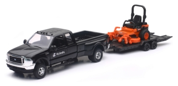 New Ray Kubota ZTR Mower & Pickup With Trailer SS-34243