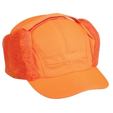 Outdoor Cap Winter Hat w/ Faux Fur Earflaps T-200EX Blaze Orange