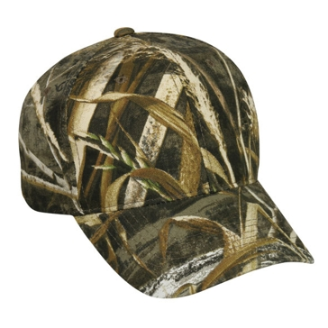 Outdoor Cap Mid Profile Basic Twill Camo Hat 301IS Realtree Max 5