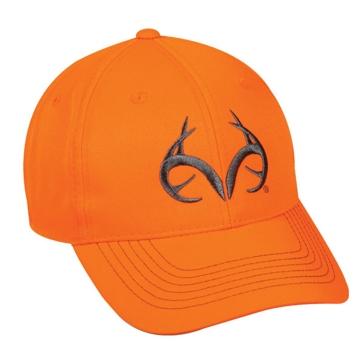 Outdoor Cap Blaze Orange Realtree Deer Horns Hat TRT80A