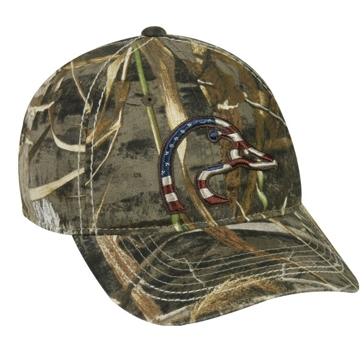 Outdoor Cap Patriotic Ducks Unlimited Camo Hat DU63A