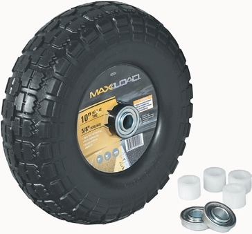 MaxLoad No Flat Pneumatic Wheel for Wheelbarrow - 10 Inch