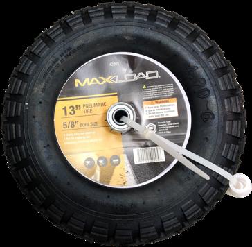 MaxLoad No Flat Pneumatic Wheel for Wheelbarrow - 13 Inch