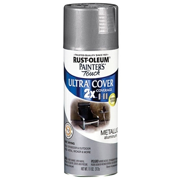 Rust-Oleum Painter's Touch Ultra Cover 2x Spray Paint 12oz - Metallic Aluminum