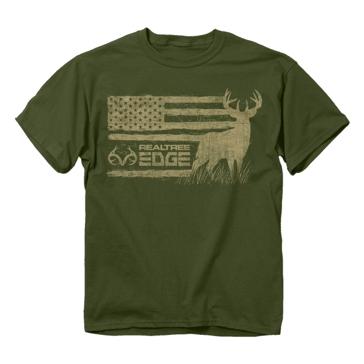 Buck Wear Realtree Edge Buck Flag Tee