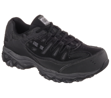 Skechers 77055 Men's Steel Toe Crankton Black/Charcoal