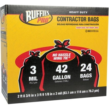 Ruffies Pro 42 Gallon Contractor Trash Bags