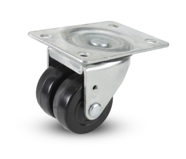 Caster Hard Rubber Dual Swivel Wheel 2x7/8""