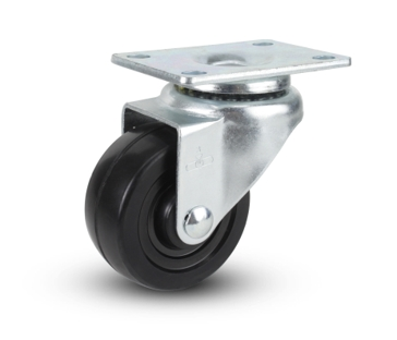 Soft Rubber Swivel Caster 3x1-1/4""