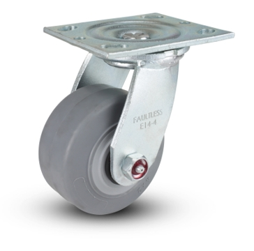 Thermo Rubber Swivel Plate Caster 4 x 2