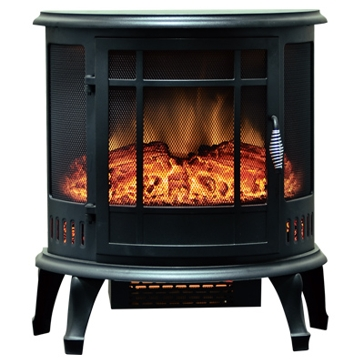 "Estate Design 24"" Black Infrared Electric Heater EFS-XB24B"