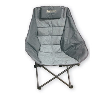 F&H Outfitters Scoop Quad Chair - Forged Iron Color
