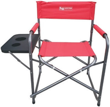 F&H Outfitters Director's Chair with Side Table - Red