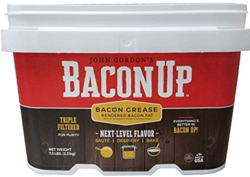Bacon Up 1 Gallon Rendered Bacon Grease  for baking, frying, cooking 00015